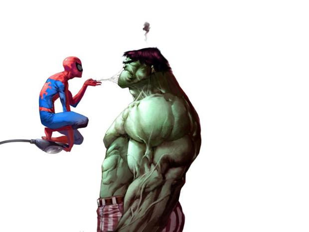 spiderman-vs-hulk